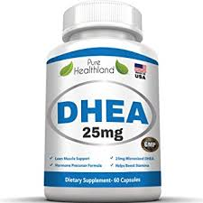DHEA For ED - Close Up of Supplement Bottle